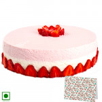Strawberry Delight (Eggless) 1 Kg + Card