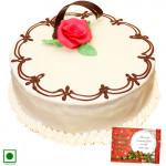 Vanilla Cake (Eggless) 1 Kg + Card