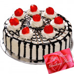 Five Star Bakery - Black Forest Cake 1 Kg + Card