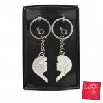 Boy and Girl Silver Keychain