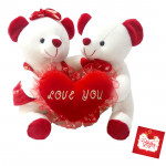 "Couple Teddy with I Love You Heart - 6"" X 6"" (Approx )"