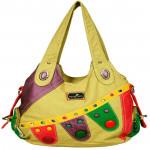 Multicolor Designer Cream Handbag (10 inch by 12 inch)