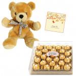 True Rocher Love - Teddy 16 inch, Ferrero Rocher 24 pcs & Card
