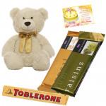 Tempted Teddy - Teddy 10 inch, 2 Temptations, Toblerone & Card