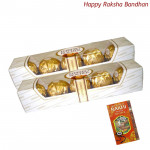 2 Ferrero Rocher 4 Pcs (Rakhi & Tika NOT Included)
