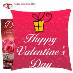 Happy Valentines Day Cushion & Valentine Greeting Card
