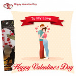 To My Love Happy Valentines Day Cushion & Valentine Greeting Card