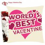 World's Best Valentine Cushion & Valentine Greeting Card