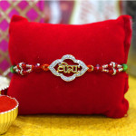 Delicate Gold & Diamond Veera Rakhi