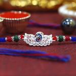 Designer Peacock Diamond Rakhi