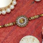 Rustic Stone & Diamond Rakhi