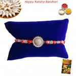 Exquisite Floral Diamond Rakhi