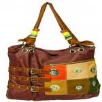 Multicolor Designer Brown Handbag (10 inch by 13inch)