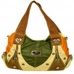 Multicolor Designer Green Handbag (10 inch by 12 inch)