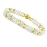 Dazzeling Two String Pearl Bracelet