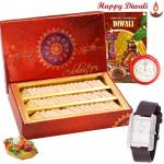 Expression of Love - Sonata Watch, Kaju Katli with Bhaidooj Tikka and Laxmi-Ganesha Coin