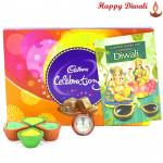 Special Celebrations - Cadbury Celebrations with 4 Diyas and Laxmi-Ganesha Coin