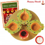 4 in 1 Thali - Puja Thali - 4 in 1 with Laxmi-Ganesha Coin