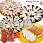 Grand Sweets - Kaju Katli, Kaju Anjir Rolls, Kesar Katli, Kaju Pista Rolls, 4 in 1 Diya Thali with Laxmi-Ganesha Coin