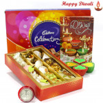Sweetest Combo - Assorted Kaju Sweets 250 gms, Celebration with 4 Diyas and Laxmi-Ganesha Coin