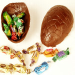 Chocolate Egg Filled with Goodies