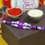 Delicate Beads with Diamond Fancy Rakhi