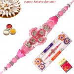 Beautiful Beads & Diamond Fancy Rakhi