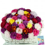 Exotic Love - 25 Roses & Gerberas Basket + Card