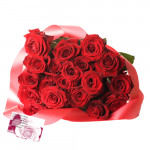 Miss U Everyday - 20 Red Roses Bunch + Card