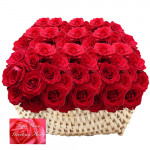 Roses Everywhere - 200 Red Roses Basket + Card