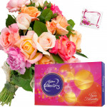 Mix Celebration - 20 Mix Roses Bunch, Cadbury Celebrations + Card