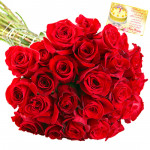 Red - 40 Red Roses Bunch & Card