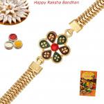 Wonderful Gold Plated Rakhi
