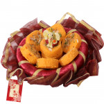 Ganesha Penda Delight - Kesar Penda 250 gms, Ganesh Idol and Card