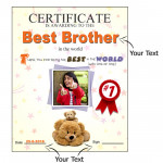 Funky Personalized Certificate 10 inches X 12 inches & Card