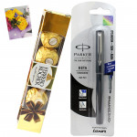 Sweet and Simple - Parker Beta Standard Ball Pen, Ferrero Rocher 5 pcs and Card