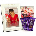 Silver Jubliee - Silver Photo Frame, 5 Dairy Milk and Card