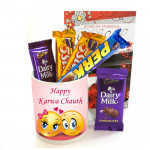 Happy Assortment - Happy Karwa Chauth Mug, 5 Assorted Bars and Card