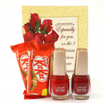 Lakme Crunch - 2 Kitkat, 2 Lakme Nail Paint and Card