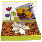 Almond N Katli - Kaju Katli 250 gms, Almonds and Card