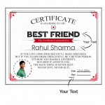 Standard Personalized Certificate 8 inches X 10 inches & Card