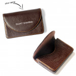Brown Personalized Card Holder & Card