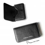 Black Personalized Card Holder & Card