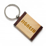 Two Tone Rectangular Keychain & Card