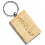 Thick Rectangular Wooden Keychain & Card