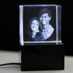 3D Crystal Cube & Card