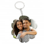 Flower Shaped Acrylic Photo Keychain & Card