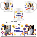 Customized White Mug (Two Pictures) & Card