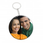 Round Wooden Photo Keychain & Card