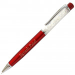 Red Personalized Crystal Pen & Card